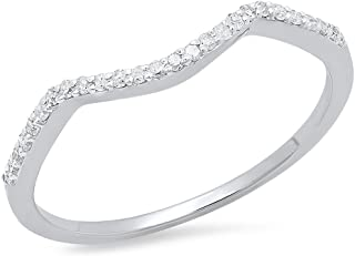 Best curved wedding band white gold Reviews