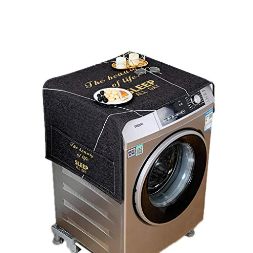 JIACUO Koelkast Stofdichte Cover Multi-Purpose Wasmachine Top Cover met Koelkast Opslag Organizer Tassen
