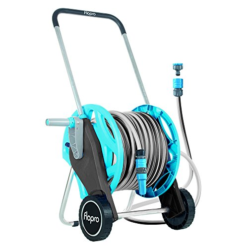 Flopro+ Assembled Hose Cart Fitted With 30 m (98 ft) Garden Hose Pipe