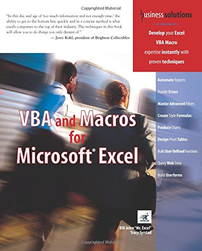 VBA and Macros for Microsoft Excel (Business Solutions)