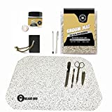 Haircare Kit with Groom Mat for Beard & Mustache Trimming/Non Stick Surface, Easy to Clean
