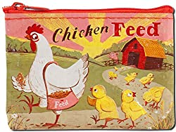 Coin purse with chicken and baby chicks Purses with chickens on them are the perfect gifts for chicken lovers