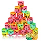 96 Mini Smiley Rainbow Spiral En Primavera del Arco Iris Springs En Colores - Granel Muelles Slinkys para Sorteos De Fiestas Juguetes, Cumpleaños Bolsas De Navidad Y Rellenos, Premios De Clase
