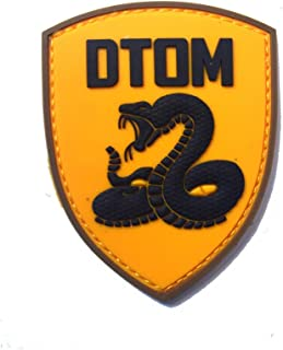 Morton Home Don't Tread On Me Tactical Patch (3.4 x 2.7 Inches) DTOM Snake Morale 3D PVC Patch Rubber Military Patch Morale Patch with Hook & Loop Patch (Yellow)