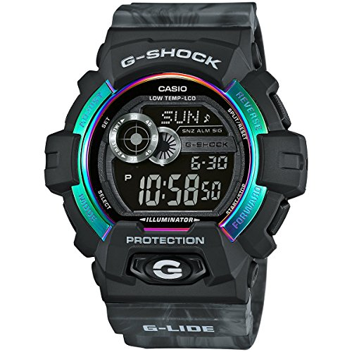 G-Shock gls-8900ar-1G-Lide Serie Reloj Negro y Gris/Talla única