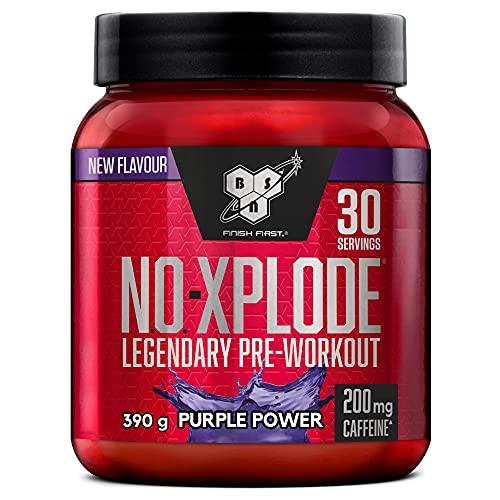 BSN N.O.-Xplode Pre-workout Powder, Suplemento Deportivo con Cafeína, Aminoácidos, Vitamina C y...
