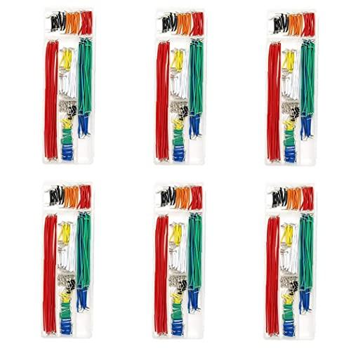 Sanfiyya Los Cables preformados Tablero de Puente sin Soldadura Macho a Macho 14 Longitudes Surtido Kit para Cortar el Pan de prototipos Color al Azar 840PCS