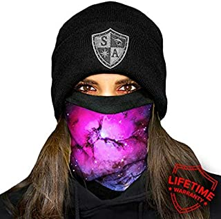 SA Company Fleece Face Shield Works as a Balaclava, Neck Gaiter for Hunting, Snow Boarding, Cycling and Riding. Keep Warm in Cold Weather. Salt Lovers Avoid the Frost of Winter. - Nebula