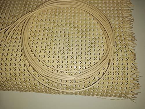 Restauraciones Vintage Kit de Rejilla Mimbre para reparación de sillas, Incluye junquillo para su Montaje (46 x 50 cm + 1 junq. fijación 2 m)