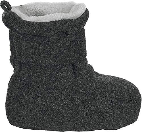 Sterntaler Jungen Baby Schuhe mit Schnurzug, Farbe: Anthrazit melange, Größe: 19/20, Alter: 12-18 Monate, Artikel-Nr.: 5101620
