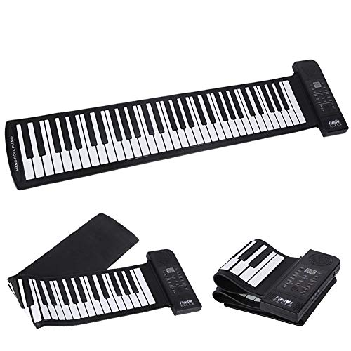 Teclado Rollup Piano, 61 Teclas Flexibles (C3 ~ C8) Pantalla Digital Teclado EléCtrico Roll Up Music Piano para NiñOs Principiantes/Entusiastas De La MúSica, etc.