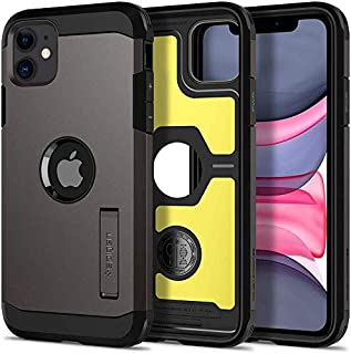 iPhone 11, Spigen Case, dual-layer Protection, with Stand, Tough Armor Designed Cover, Gunmetal