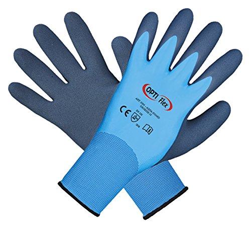 Optiflex 12 Paar Arbeitshandschuhe, wasserdicht, Aqua Guard, Größe 11, Lebensmittel geeignet - Premium Qualität