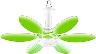 LYNN Mini Ceiling Fan,Mini Ventilador de Techo,Mudo Repelente Fan Del Hogar,220V 20W el Ahorro de Energía,Adecuado para Oficina Habitación/verde/C