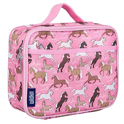 Wildkin - Brotdosen für Kinder in Pink Horses, Größe Einheitsgröße