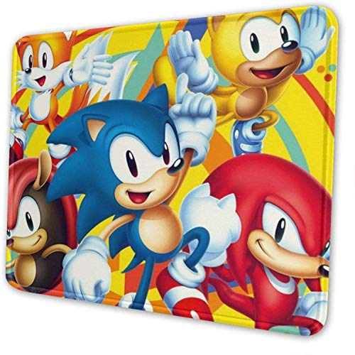 Sonic The Hedgehog Yellow Gaming Mouse Pad Computer Desk Pad for Office Home, Rectangular Non-Slip Rubber Base Mouse Pad 12' X 10'