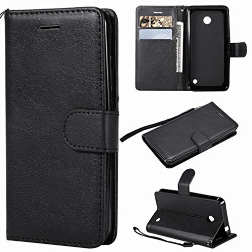 Laybomo Etui Nokia Lumia 635 / RM-974 Housse PU Cuir Pochette Portefeuille Aimant Protecteur Flip Cover Doux TPU Silicone Coque pour Nokia Lumia 635, Série Affaires (Noir)