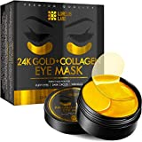 24K Golden Under Eye Patches Anti-Aging and Hydrating - Premium Under Eye Mask for Puffy Eyes, Dark Circles, Eye Bags, Wrinkles with Collagen and Hyaluronic Acid - Eye Pads, 30 Pairs