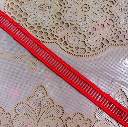 4 meter blauw rood wit zwart Vintage bruiloft bruids geborduurd Lace Trim lint Lace stoffen DIY naaien ambachten 1,3 cm, rood