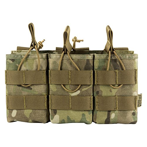 OneTigris Open-Top Triple Mag Pouch DD07 for M4 M14 M16 AK47 AK74 G36 Magazine (Multicam)