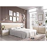 HABITMOBEL Pack Dormitorio; Cama 4 cajones con Cabecero de