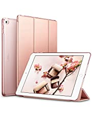 ESR iPad Air2 ケース クリア iPad Air2 カバー レザー PU 軽量 スタンド機能 オートスリープ 傷つけ防止三つ折タイプ iPad Air2専用スマートカバー イッピーカラーシリーズ4