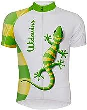 Maillot De Ciclismo Para Hombre Manga Corta,Camisa De Ciclismo De Montaña Jersey De Ciclismo De Montaña De Insectos De Lagartija Impresa De Secado Rápido Transpirable De Verano, Cremallera Comple