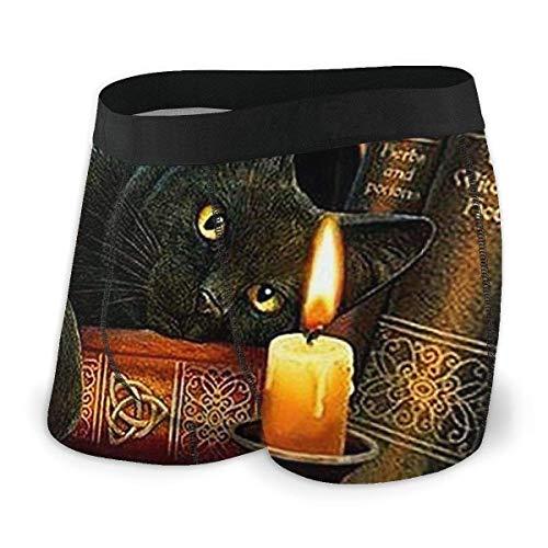 Dydan Tne Black Witching Cat Kerzenbuch Moon Men 's Youth Custom Boxer Slips Bequeme Unterwäsche