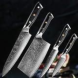NBKLSD Damasco 67-Capa de Cuchillo de Cocina de Acero Cocinero Cuchillo de Cocina Afilado Conjunto Chino Cuchillo de Cocina Cuchillos de Cocina Conjunto (Color : 4PCS Set)