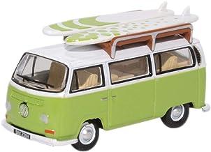 Oxford oxf76vw028 VW T2 Bay ventana Camper con tabla de Surf Verde Claro/Blanco Escala 1:76