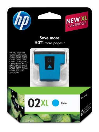 HP 02XL Cyan High Yield Original Ink Cartridge (C8730WN) DISCONTINUED BY MANUFACTURER