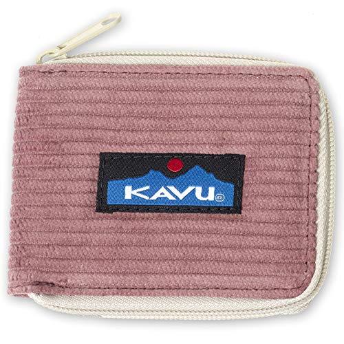 KAVU Outer Banks Zip Bifold Corduroy Wallet - Rum Raisin