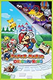 1art1 Super Mario Póster con Marco (Plástico) - Paper Mario The Origami King (91 x 61cm)