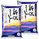 新米 新潟県産 コシヒカリ 山並 白米 10kg (5kg×2 袋) 令和3年産