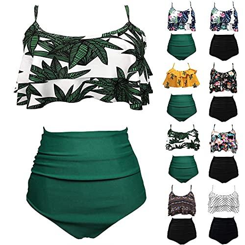 ZGNB Tankini Mit Shorts Bikini Bottoms Swimwear Schwimm Tankini Damen Bikini Sportlich Bikinihose Schwarz beachlife Bikini Damen Bikini große größen Rosa#08 Blau