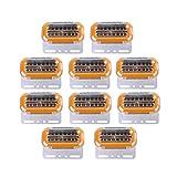 24V LED サイドマーカー 流れる ウインカー 10個セット キャンター エルフ プロフィア スーパーグレート トラック トレーラー 等 カスタム パーツ 汎用品 サーチ ウェッジ タイヤ ホイール リフレクター トレーラー ダンプ 建設 機械 テール シート カバー スクリーン フック ジャッキ テールランプ アクスル 移動 ウインチ ウィンカー ウィングコード ウインチブラケット (イエロー)