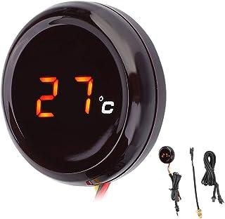 Motorrad Thermometer Digital Thermometer Wassertemperaturanzeige für Honda Kawas aki Yama ha Suzu ki (Farbe : Red light)
