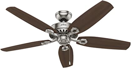 Hunter Fan Company Hunter 53241 Transitional 52``Ceiling Fan from Builder Elite collection in Pwt, Nckl, B/S, Slvr. finish, Brushed Nickel