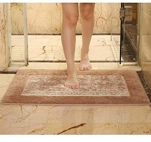 MMMN Tappetino Bagno Tappeto DocciaUsato in Bagno Cucina Soggiorno Camera da Letto Balcone -50 * 60cm 【Ingresso Bagno e Cucina】_Ondulazione dell'acquaFacile da Pulire