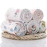 ELEMENTARY - basics redefined (Pack of 3) Super-Soft Organic Cotton Muslin Swaddle Blanket/Swaddle
