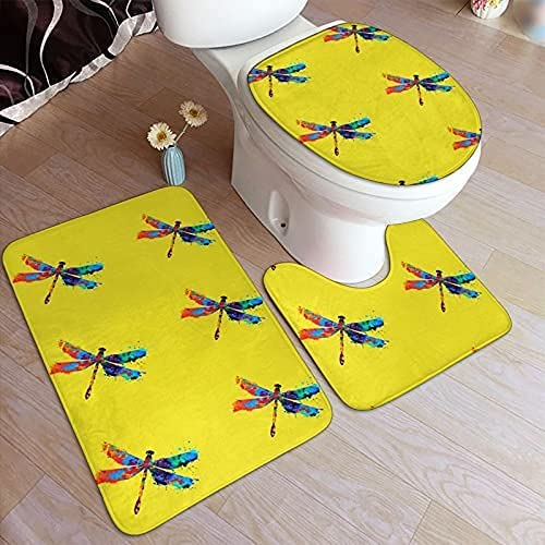 Paint Splash Dragonfly Print Bathroom Bat Antiskid Pad Non-Slip 67% OFF of Ranking TOP16 fixed price
