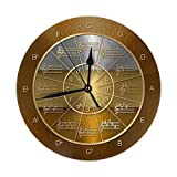 BaboLye Circle of Fifths in Gold, Silver, Bronze Round Home Decor Wall Clock 9.84'