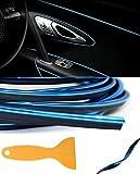 BLAU - 5 Meter mit metallischen Glanz Zierleiste Innenraum Dekorative Streifen für Auto Kfz Nfz Flexible Trim Strip Molding 101814 - sarachen - INION®