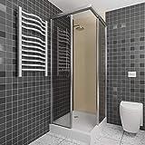 Pannello doccia impermeabile come rivestimento da parete 100x250cm– Pannello in PVC per la doccia – Rivestimento durevole per piastrelle del bagno – Pannello doccia (beige crema)