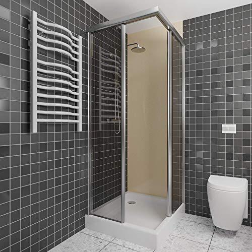 A+H Wandverkleidung - Kunststoffplatte als Duschrückwand für Dusche/Badewanne - Duschplatte/Duschwand mit Schutzfolie (250x100cm,beige creme)
