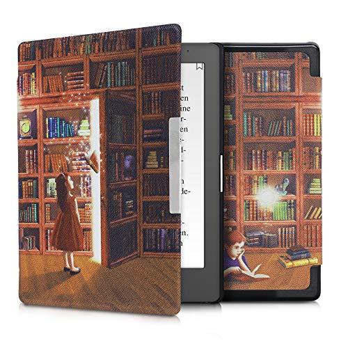 kwmobile Klapphülle kompatibel mit Kobo Aura Edition 1 - Hülle eReader - Magische Bibliothek Mehrfarbig