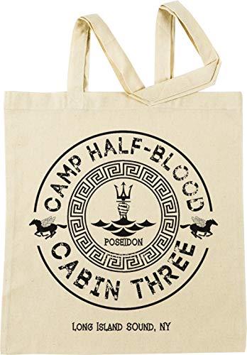 Vendax Percy Jackson - Camp Half-Blood - Cabin Three - Poseidon Beige Einkaufstasche
