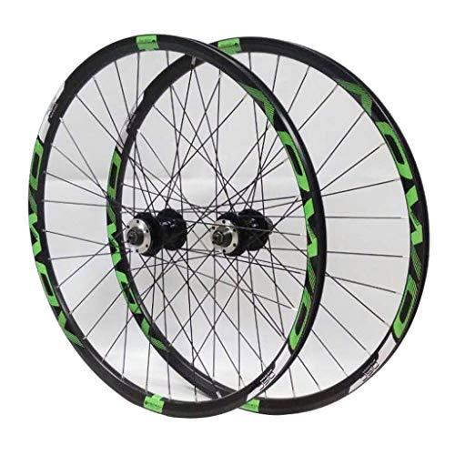 Hs&con Bike Wheelset MTB 26'27.5' 29'Freno de Disco 8/9/10 Velocidad de liberación rápida Frontal Ruedas traseras (Size : 26 Inches)