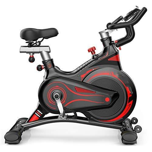 YUHT Bicicleta estática, Bicicleta de Ciclismo de Interior Bicicleta de Spinning en casa Totalmente rodeada silenciosa Bicicleta de Ejercicio Inteligente Equipo de Ejercicio físico