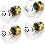 Bulbly Appliance Oven Refrigerator Light Bulb G45 High Temp E26 / E27 Medium Brass Base 40 Watts 120 Volts Clear 400 Lumens